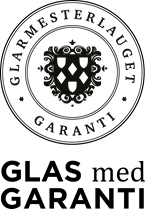 Glas med Garanti sort PNG